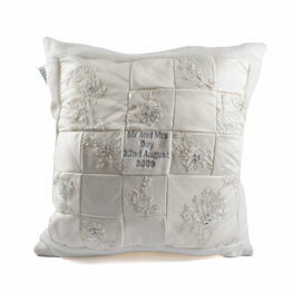 Wedding Dress Keepsake Cushion